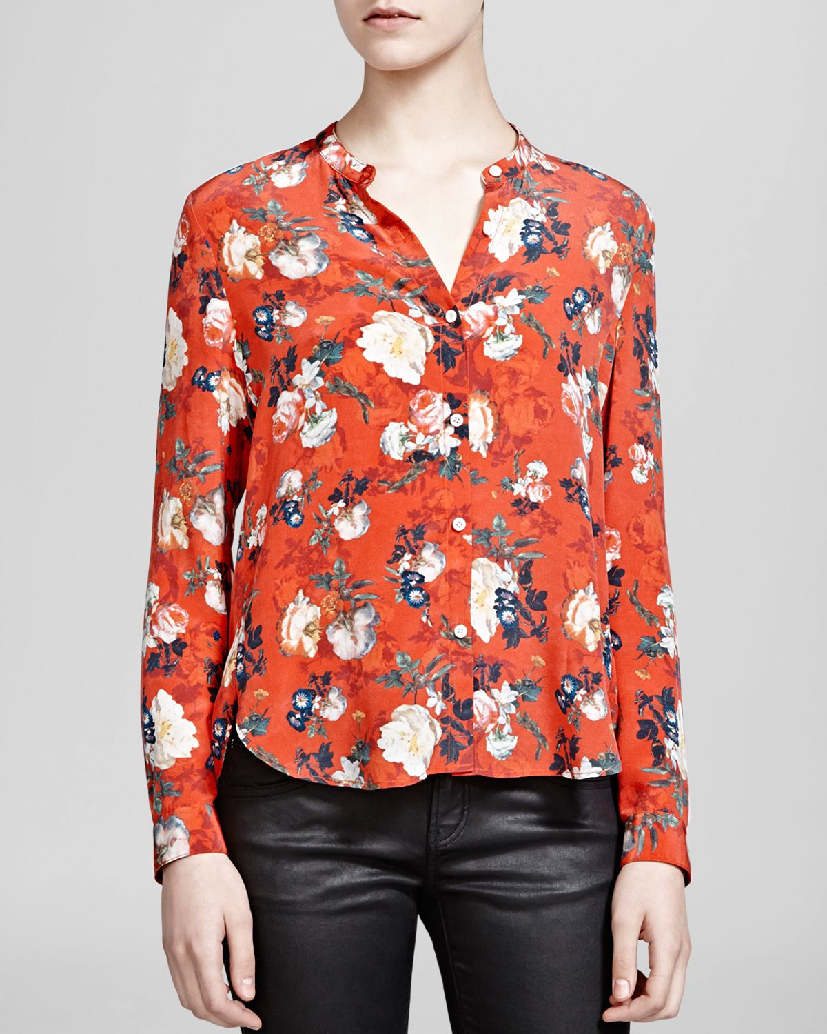 Free Shipping Purchase New For Sale The Kooples Silk Short Sleeve Top Countdown Package Cheap Online Get Authentic Sale Online Cheap Shop 6NT2Ll13