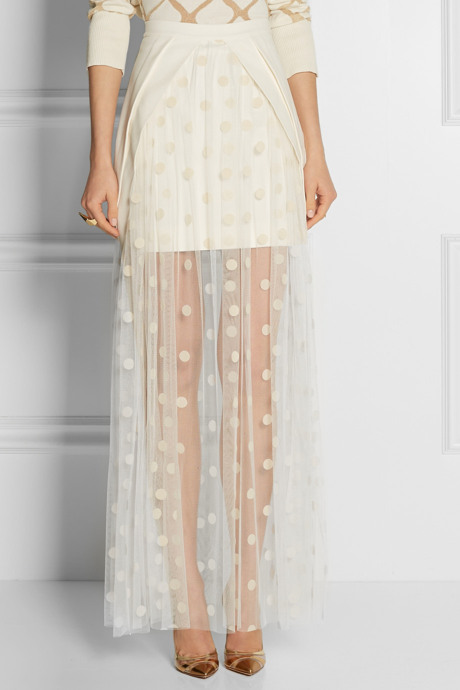 Lyst Sass Amp Bide House Proud Crepe And Polkadot Tulle