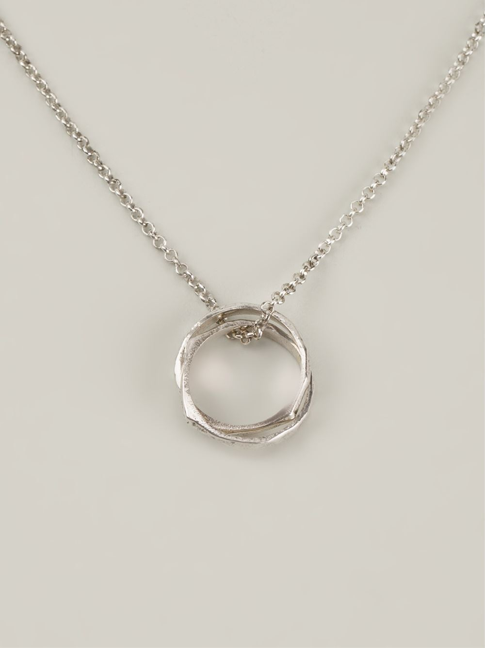 henson infinity ring necklace in metallic lyst