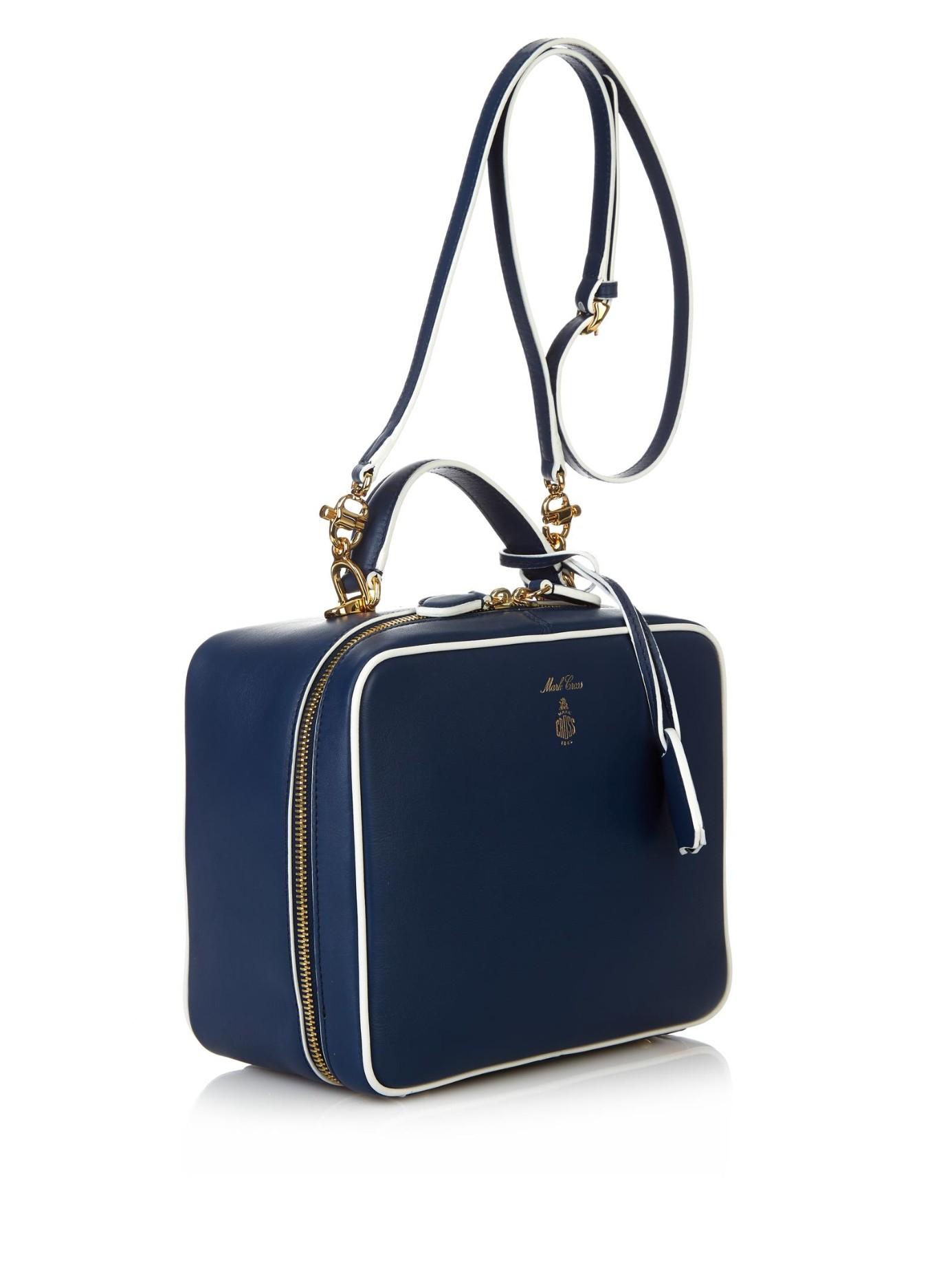 Mark Cross Laura Shoulder Bag In Blue Lyst