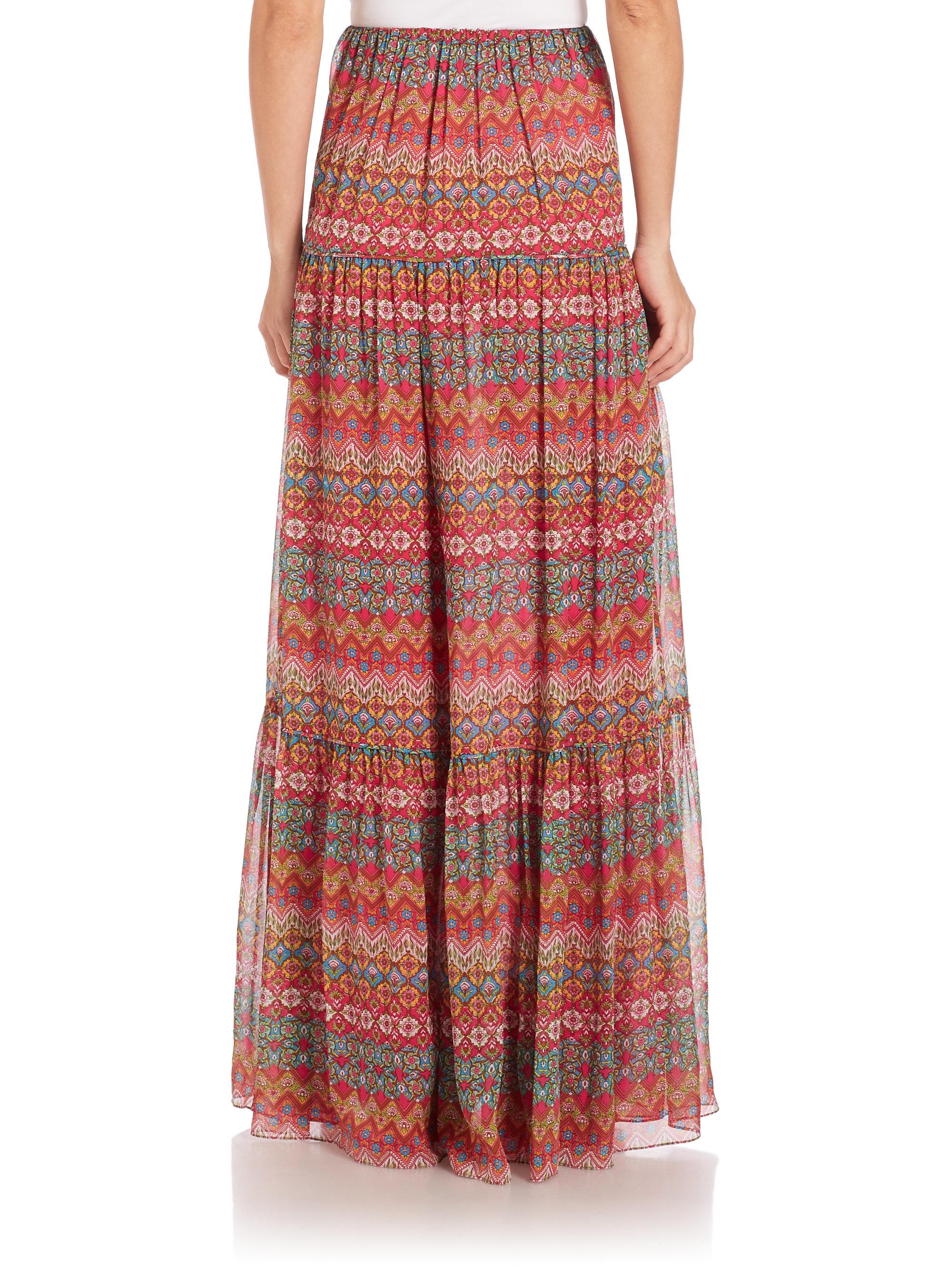 cbd76c7fe3592 Diane von Furstenberg Baylee Maxi Skirt - Lyst