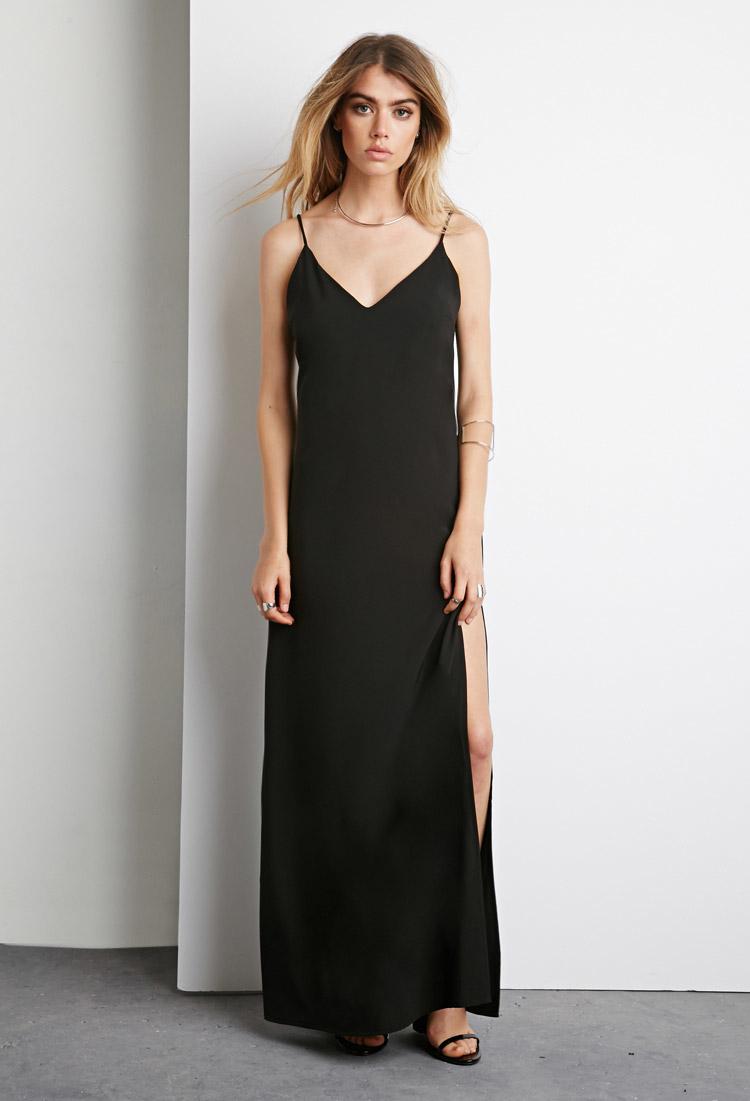 32592c79 black maxi dress forever 21 – Little Black Dress | Black Lace ...
