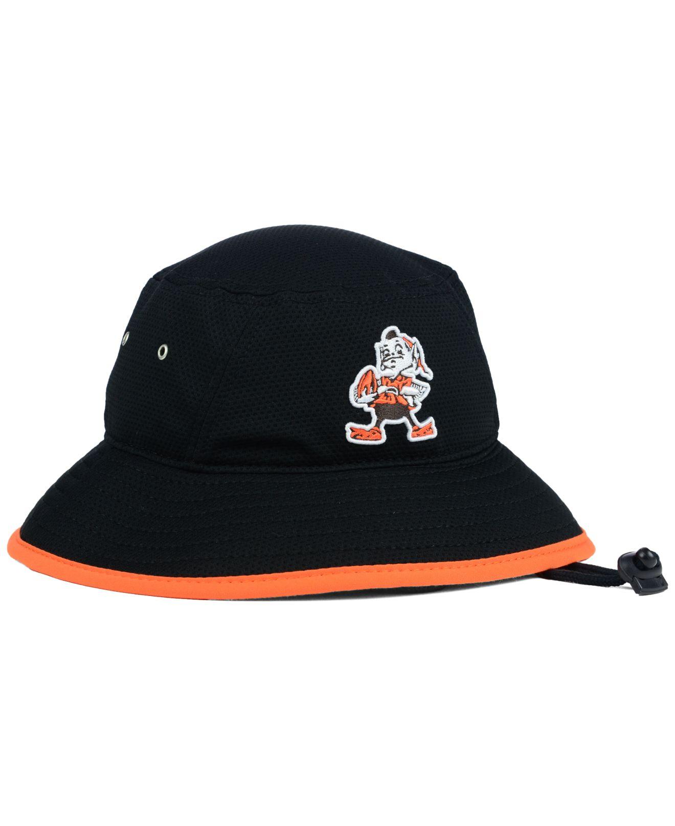 Lyst - KTZ Cleveland Browns Training Bucket Hat in Black for Men d35c0f6e2