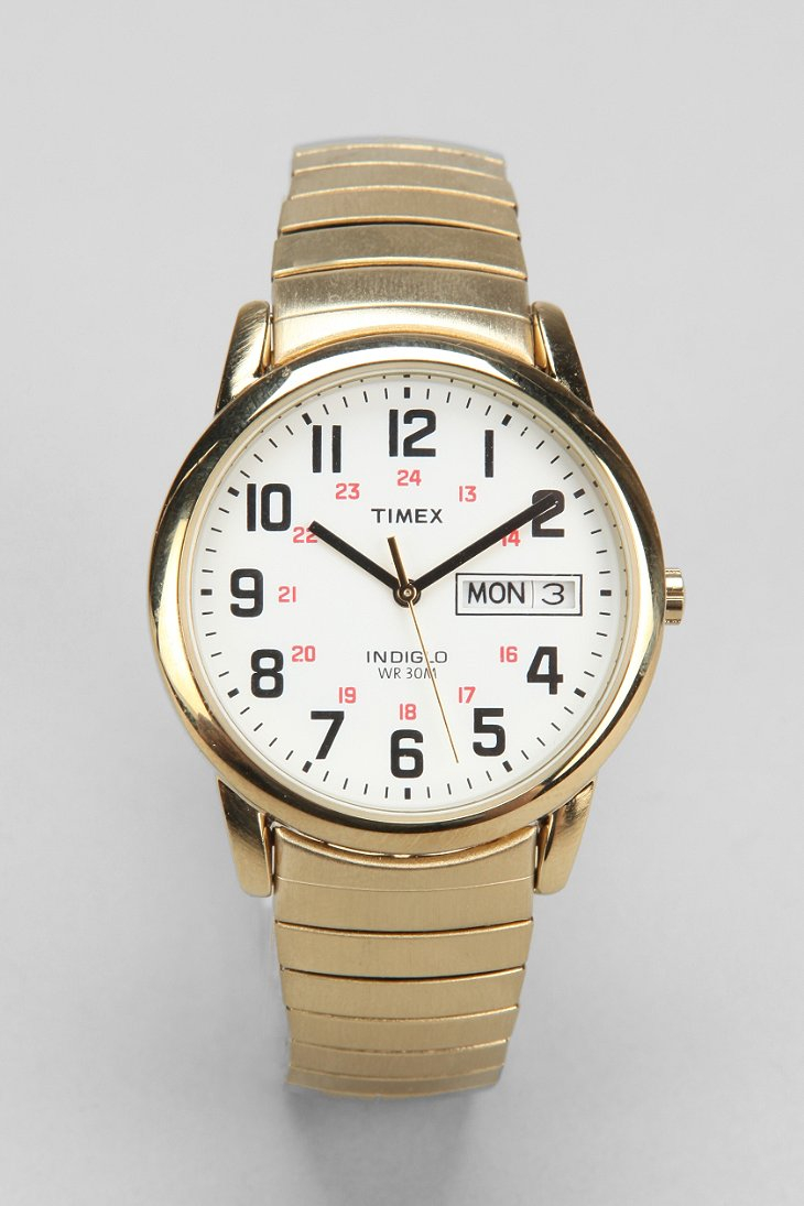 timex 174 gold metal weekender in gold for lyst