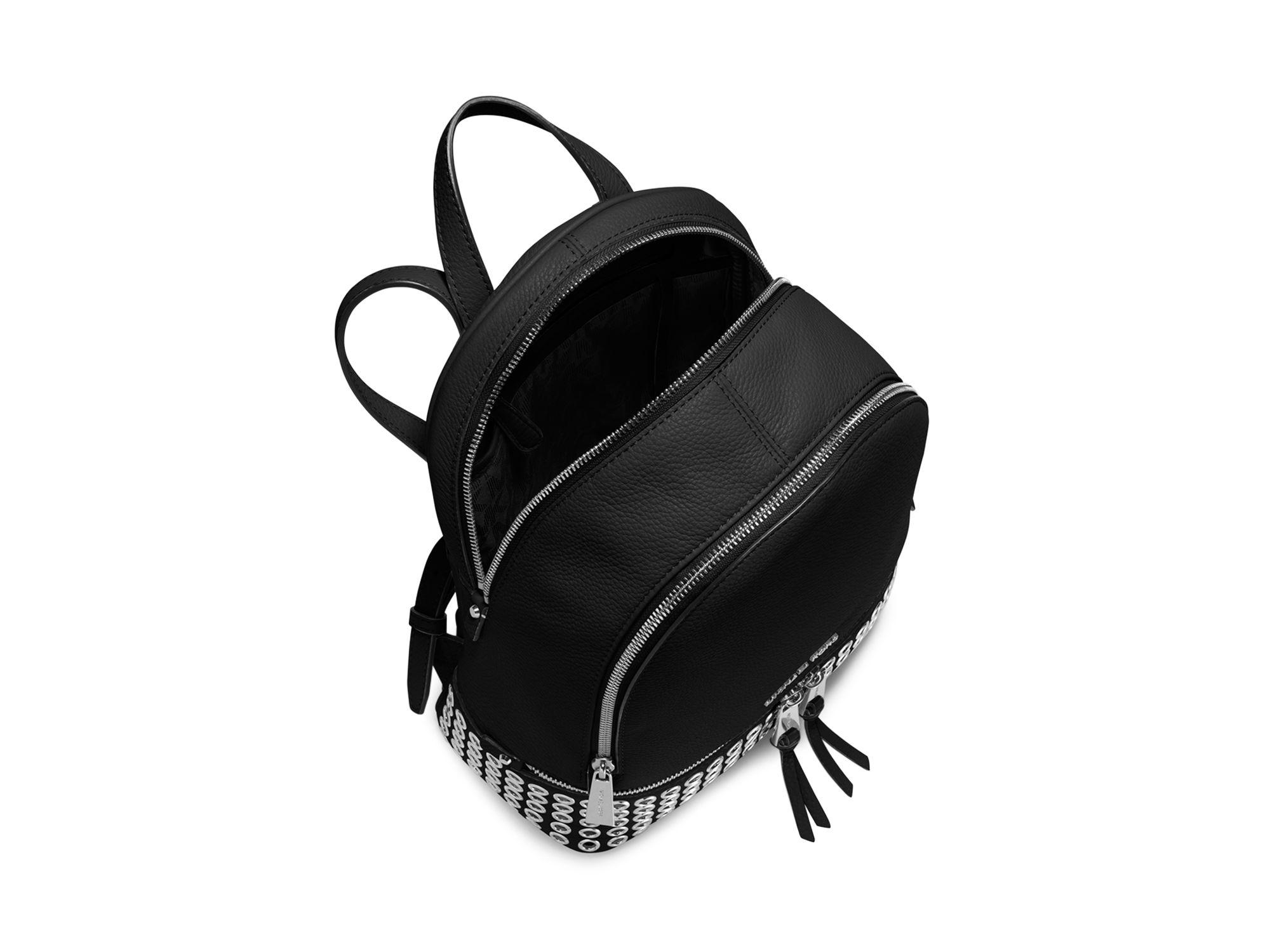 9ee6f29e010e9 Lyst - MICHAEL Michael Kors Medium Rhea Zip Grommet Backpack in Black