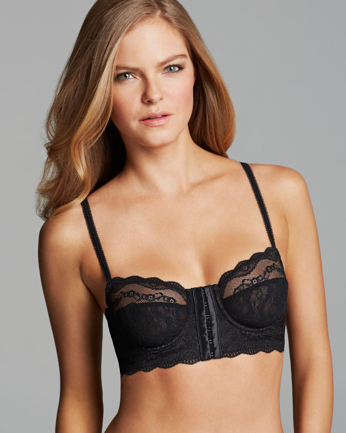 91af0ae129a25 Lyst - B.tempt d Lace Kiss Unlined Underwire Front Closure Longline ...