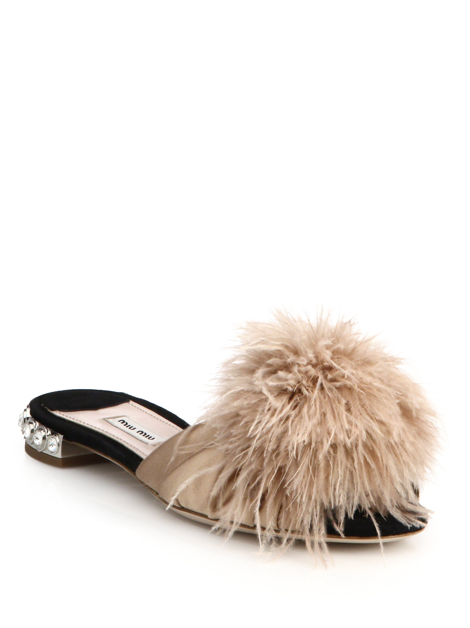 Miu Miu Feather and crystal