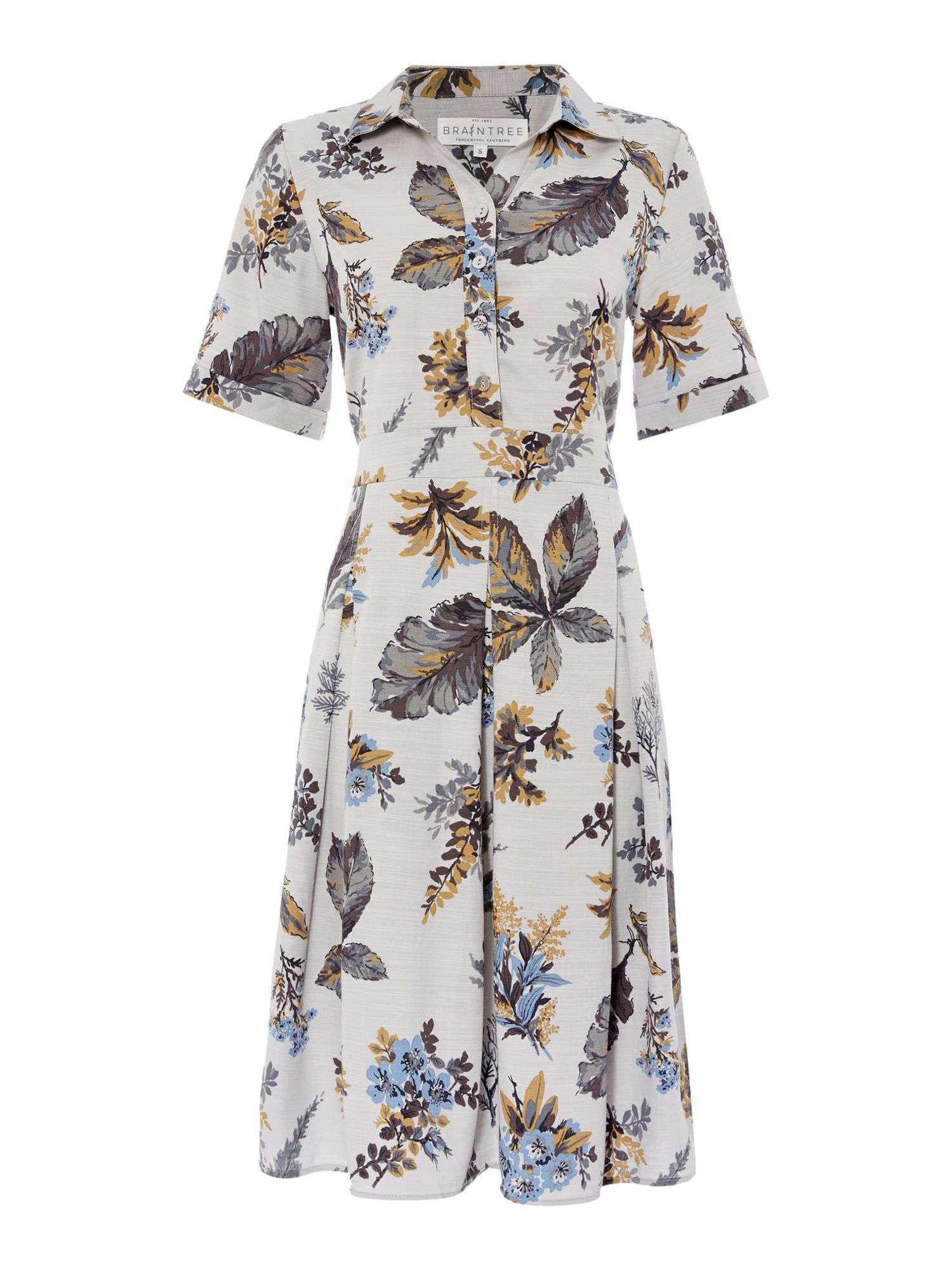 ad3e68be0d6 Braintree Printed Shirt Dress in Gray - Lyst