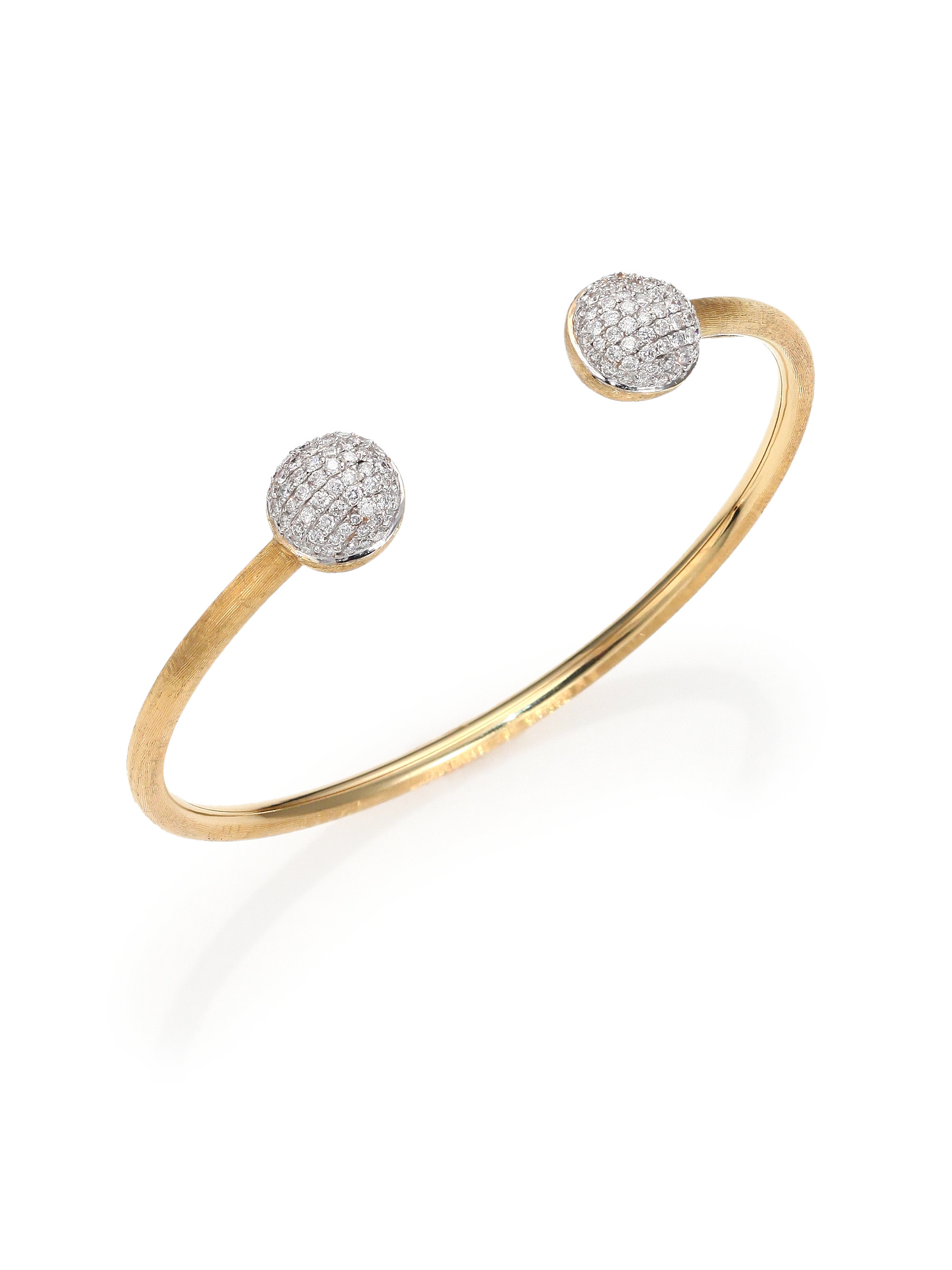 Marco Bicego 18k Gold Africa Diamond Bangle Bracelet
