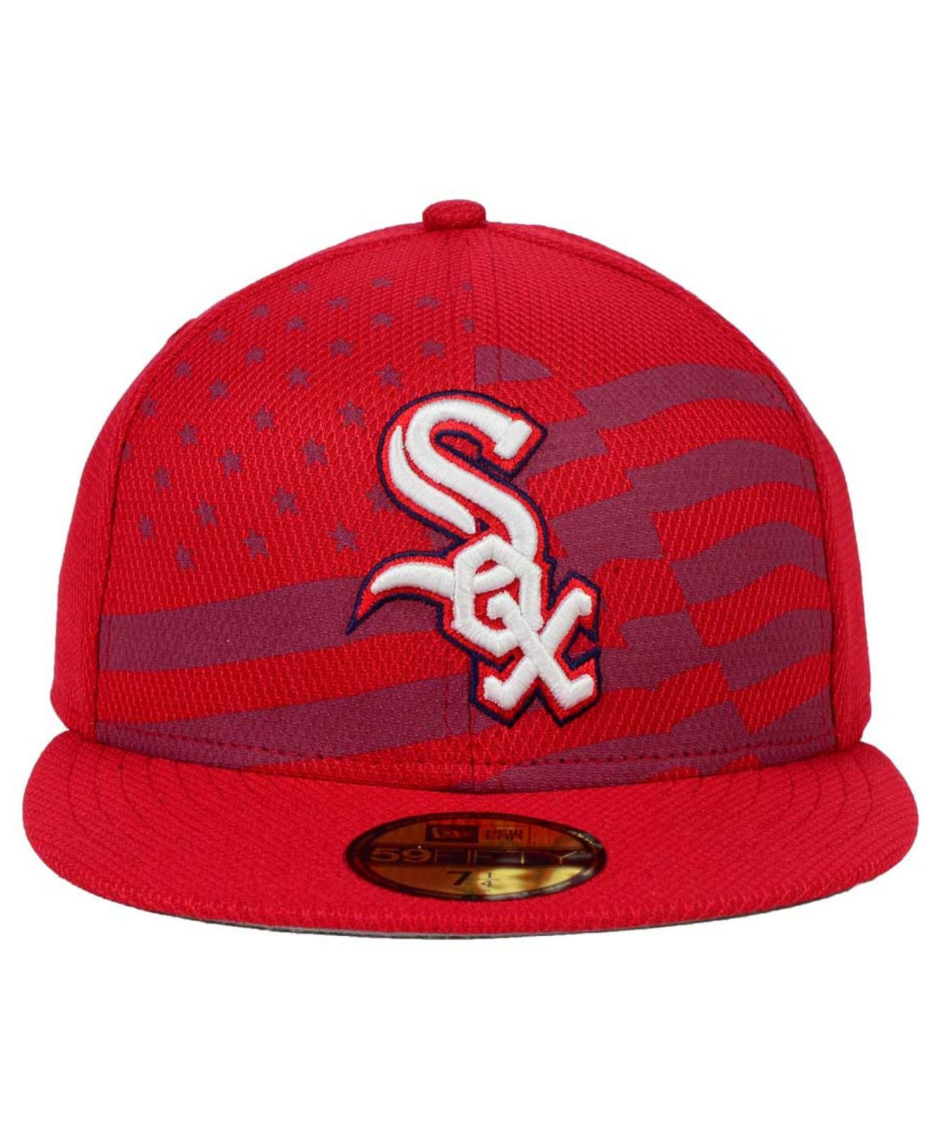 innovative design d70bf 4d657 ... reduced lyst ktz chicago white sox july 4th stars stripes 59fifty cap  in 0f9b9 ea66b
