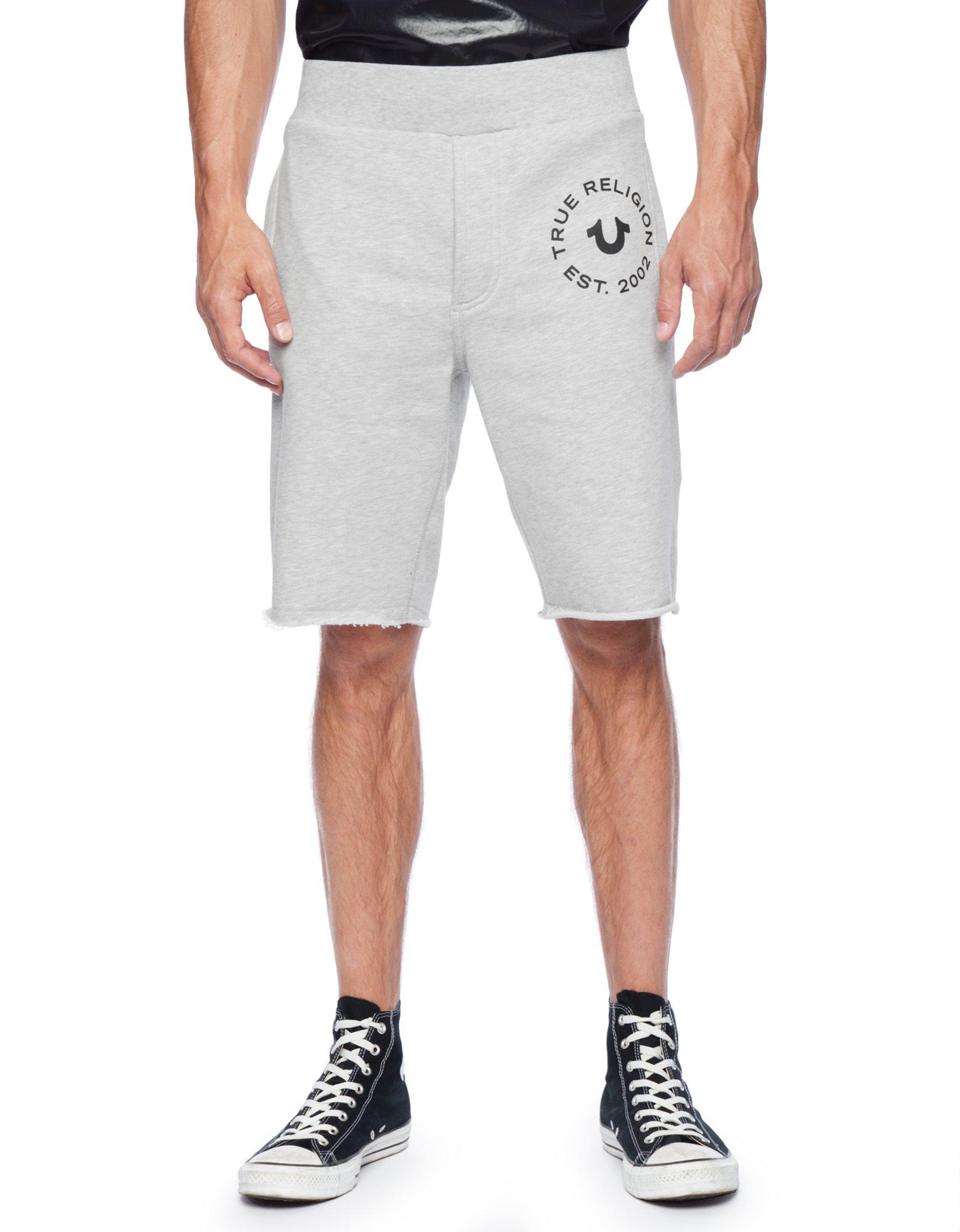 True religion Cut Off Mens Sweat Shorts in Gray for Men | Lyst