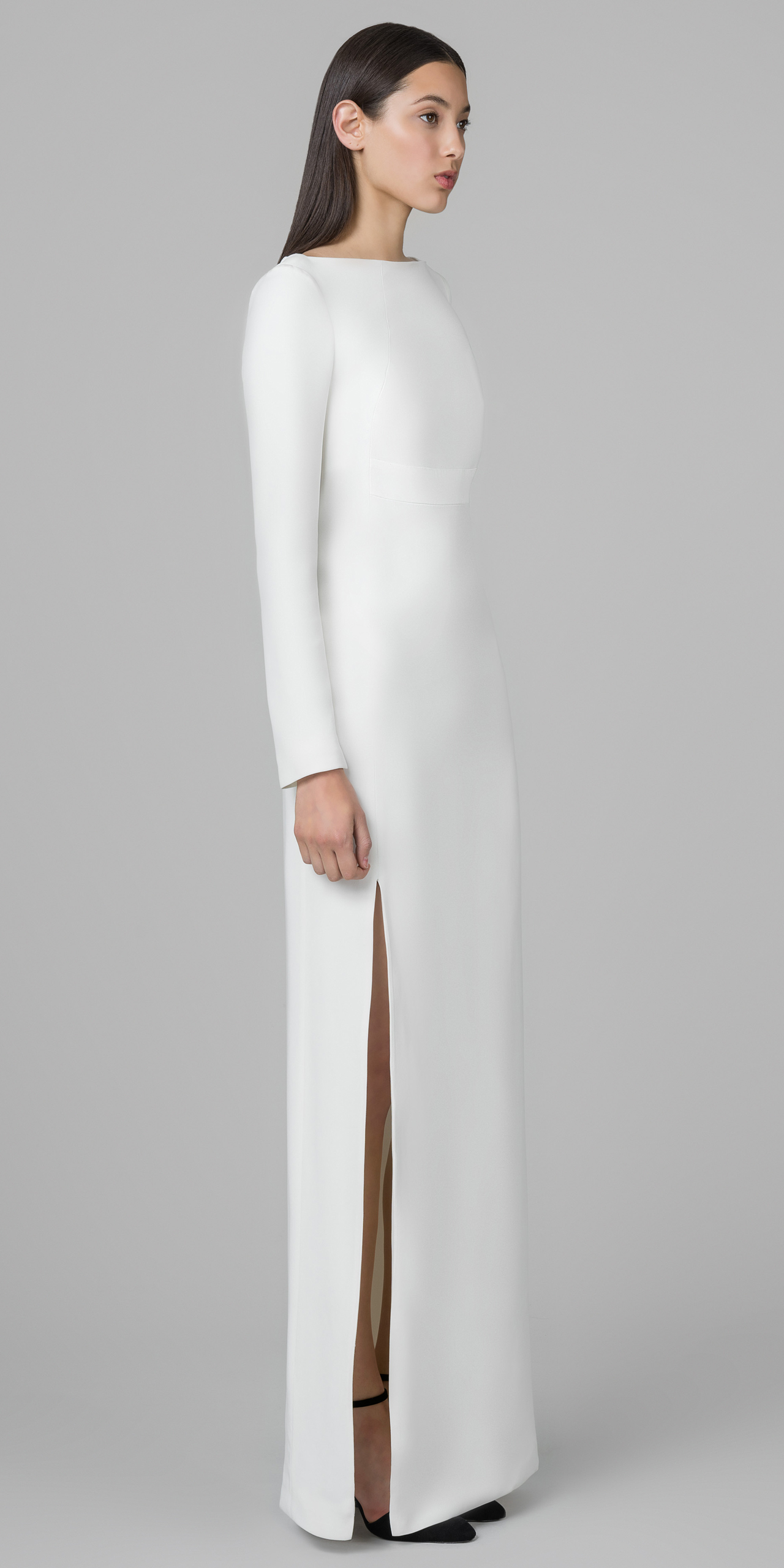 Lyst - Kimora Lee Simmons Frosted Silk Evening Gown in White