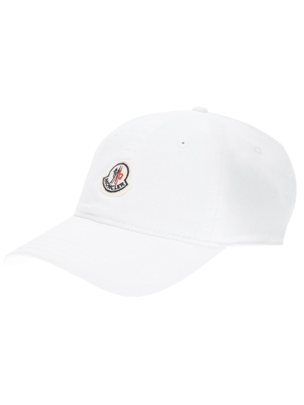 Lyst - Moncler Logo Baseball Cap in White for Men 25ac073eca1