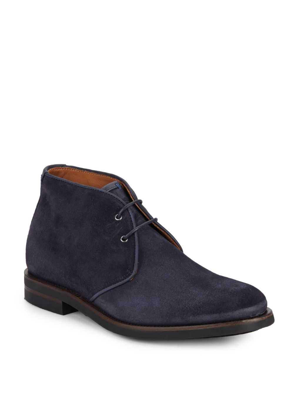 aquatalia carlos suede chukka boots in blue for lyst