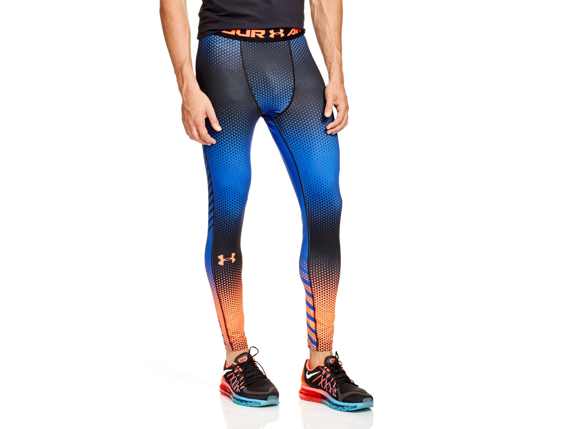 Lyst - Under Armour Exo Compression Leggings in Black
