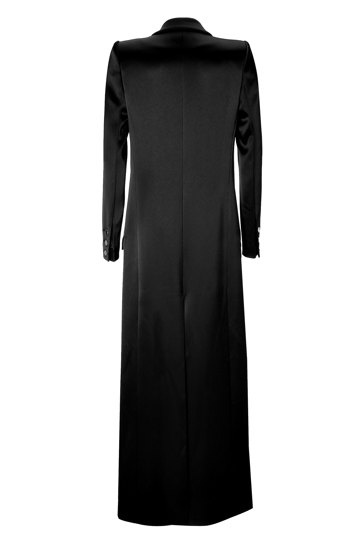 Lyst - Anthony Vaccarello Satin Floor-length Coat