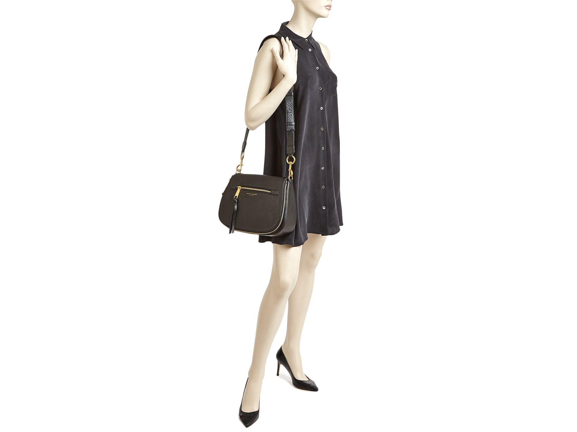 52caee57c313 Lyst - Marc Jacobs Recruit Saddle Bag in Natural