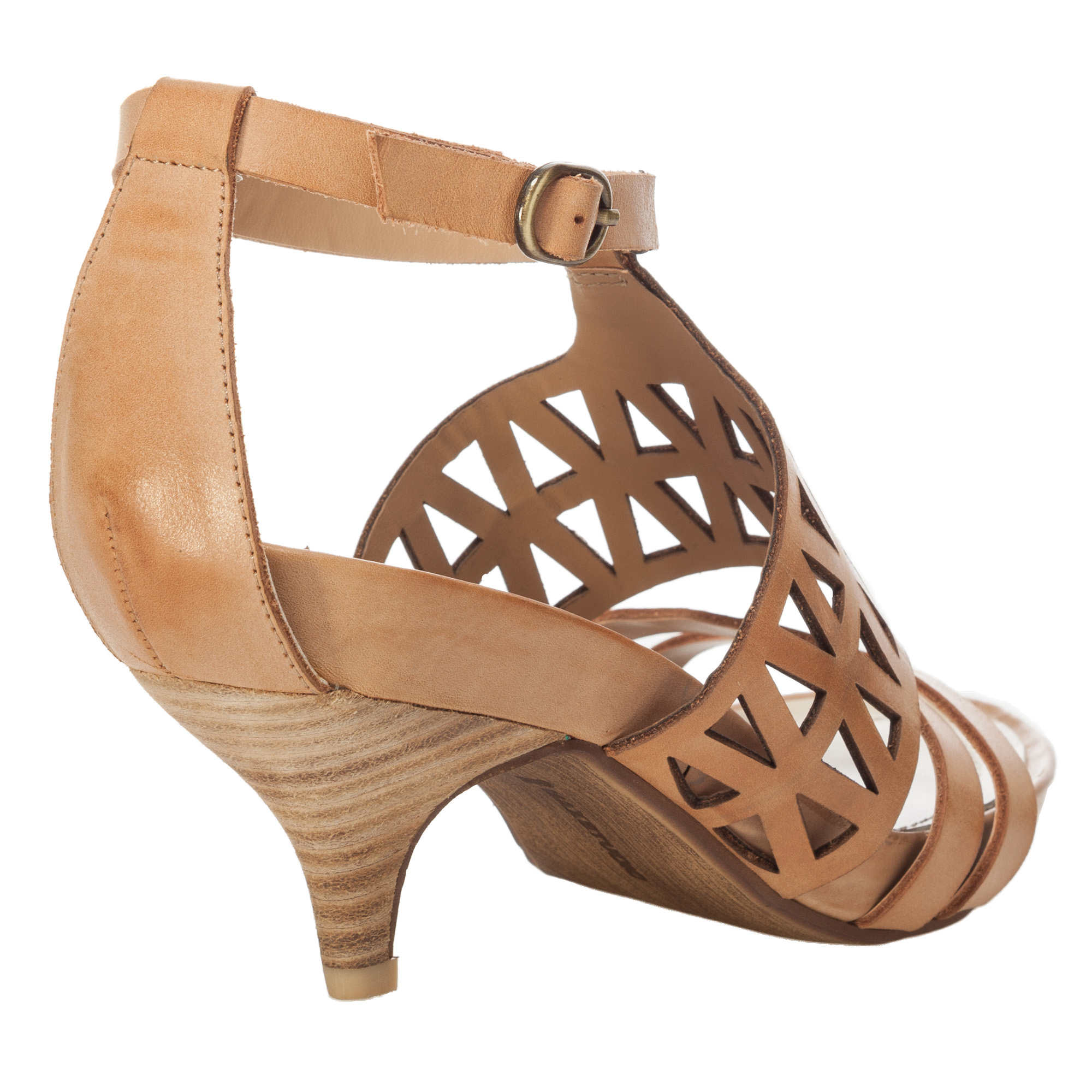 Leon max Mac - Leather Kitten Heel Sandals in Brown | Lyst