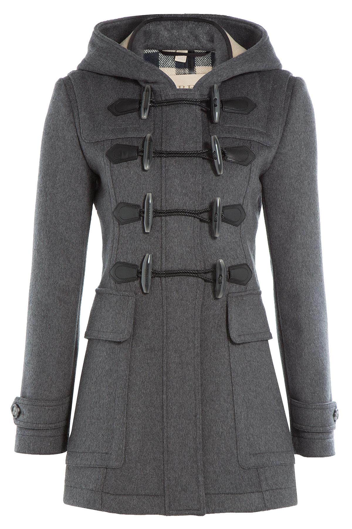 Womens grey duffle coat