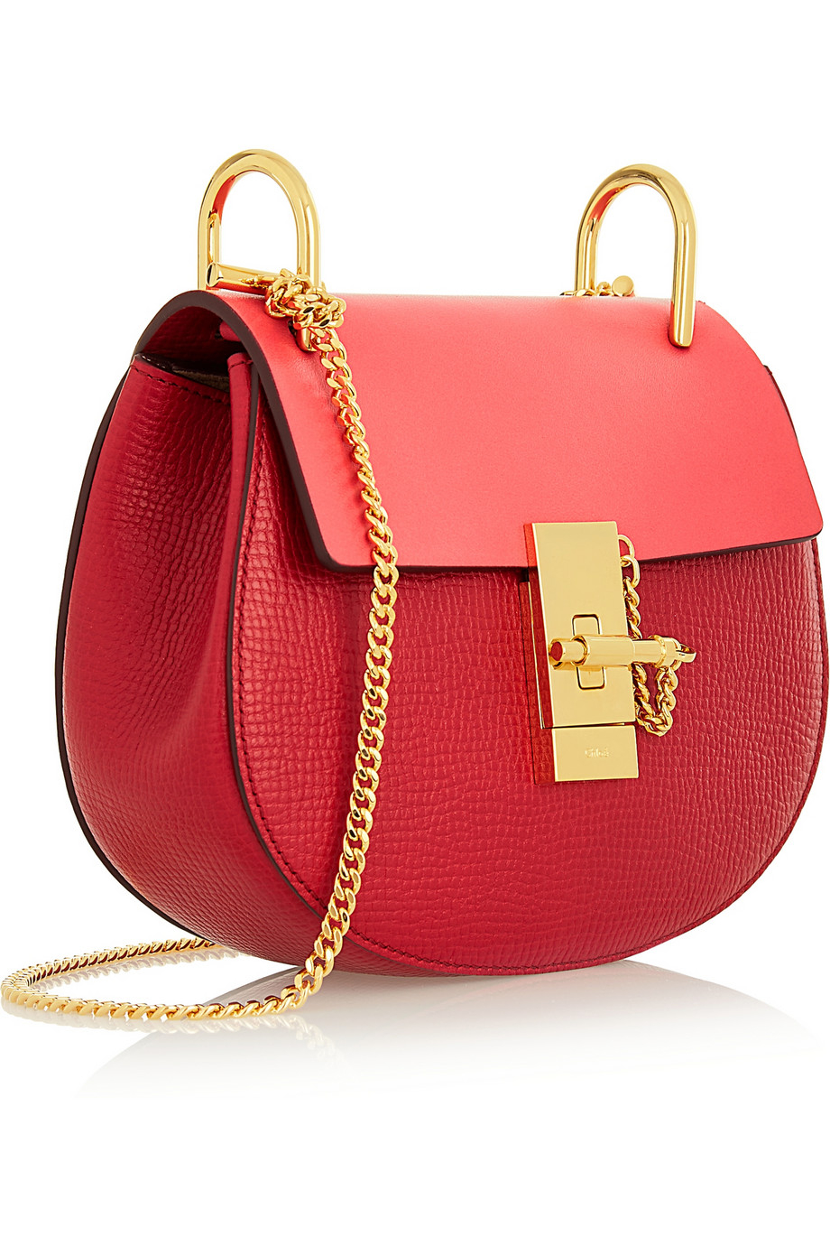 chloe bag replica - drew mini chain shoulder bag, red - chloe