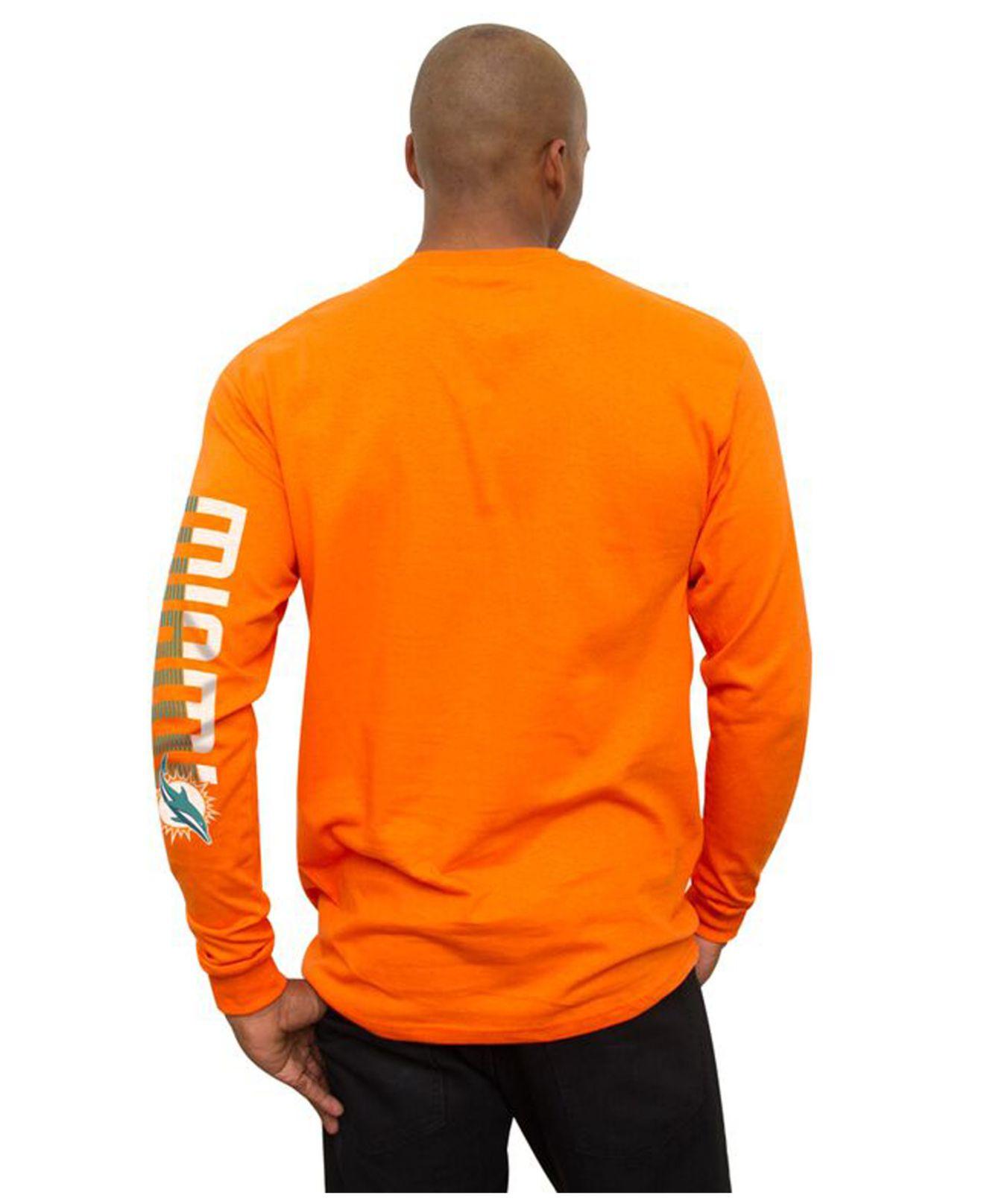 Junk food Men's Long-sleeve Miami Dolphins Top Shelf T-shirt in ...