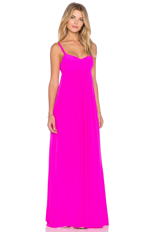 Lyst - Amanda Uprichard Chantelle Maxi Dress in Pink 6da0b3628e