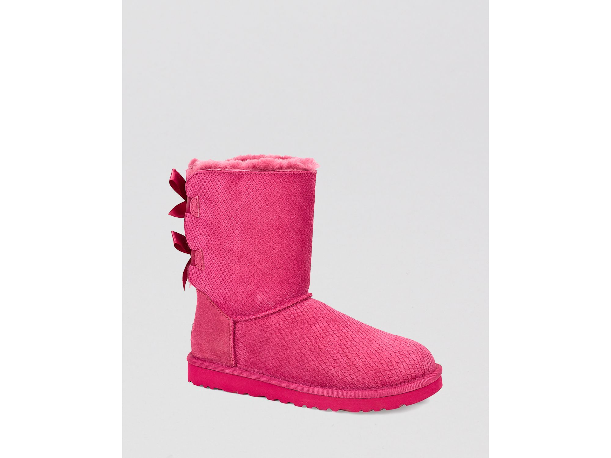 0dfbabc7155 UGG - Pink ® Bow Exotic Scales Boots - Bailey - Lyst