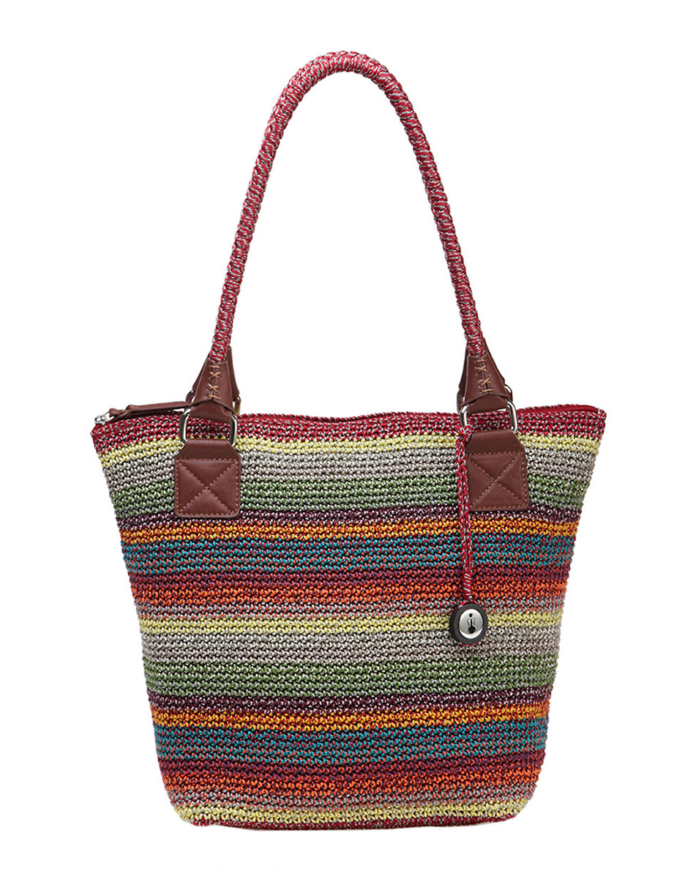 The Sak Bags Crochet : The Sak Cambria Crochet Large Tote in Brown (GYPSY STRIPE) Lyst