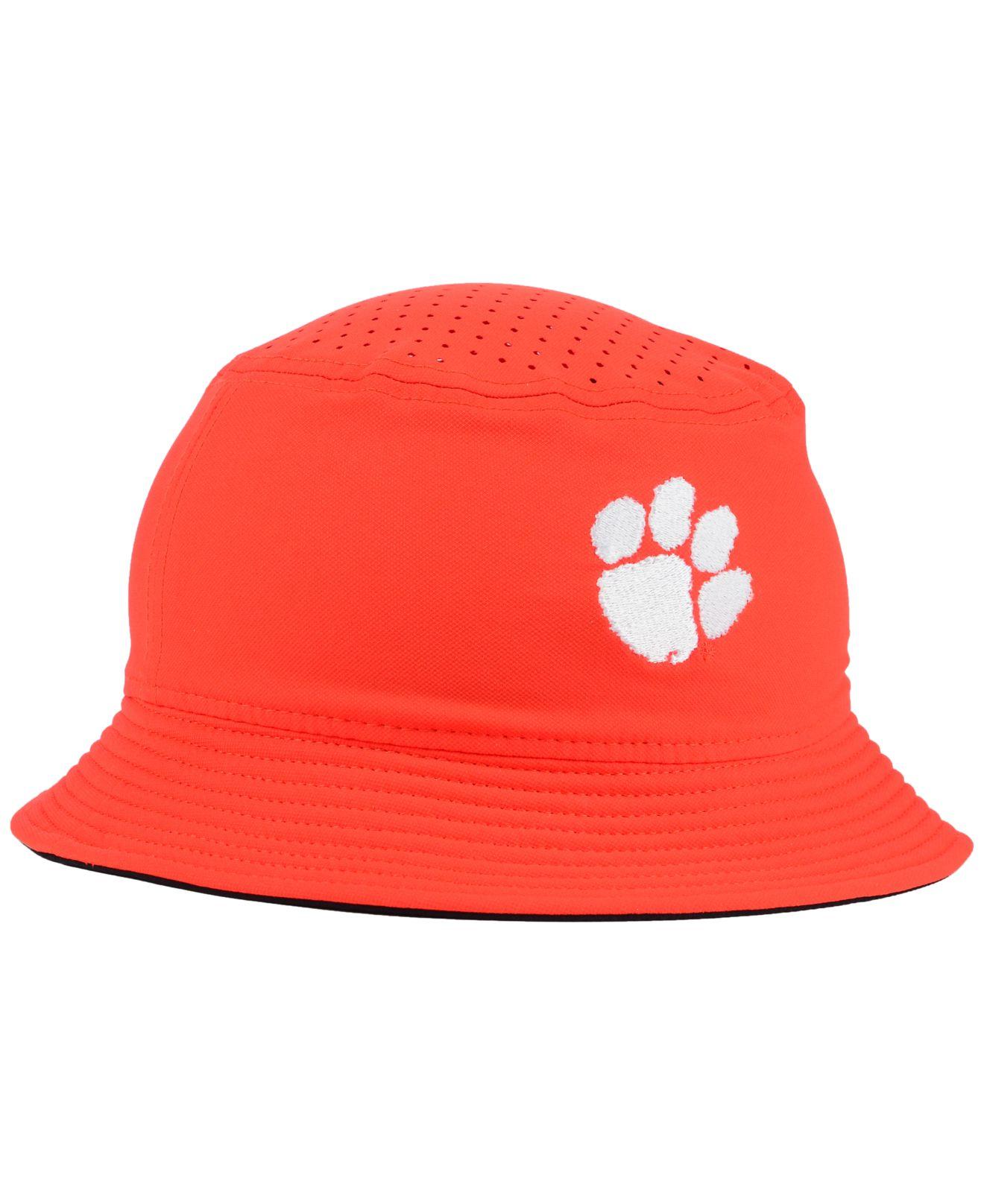 62204127afd ... hot lyst nike clemson tigers vapor bucket hat in orange for men 0a64c  b38a6