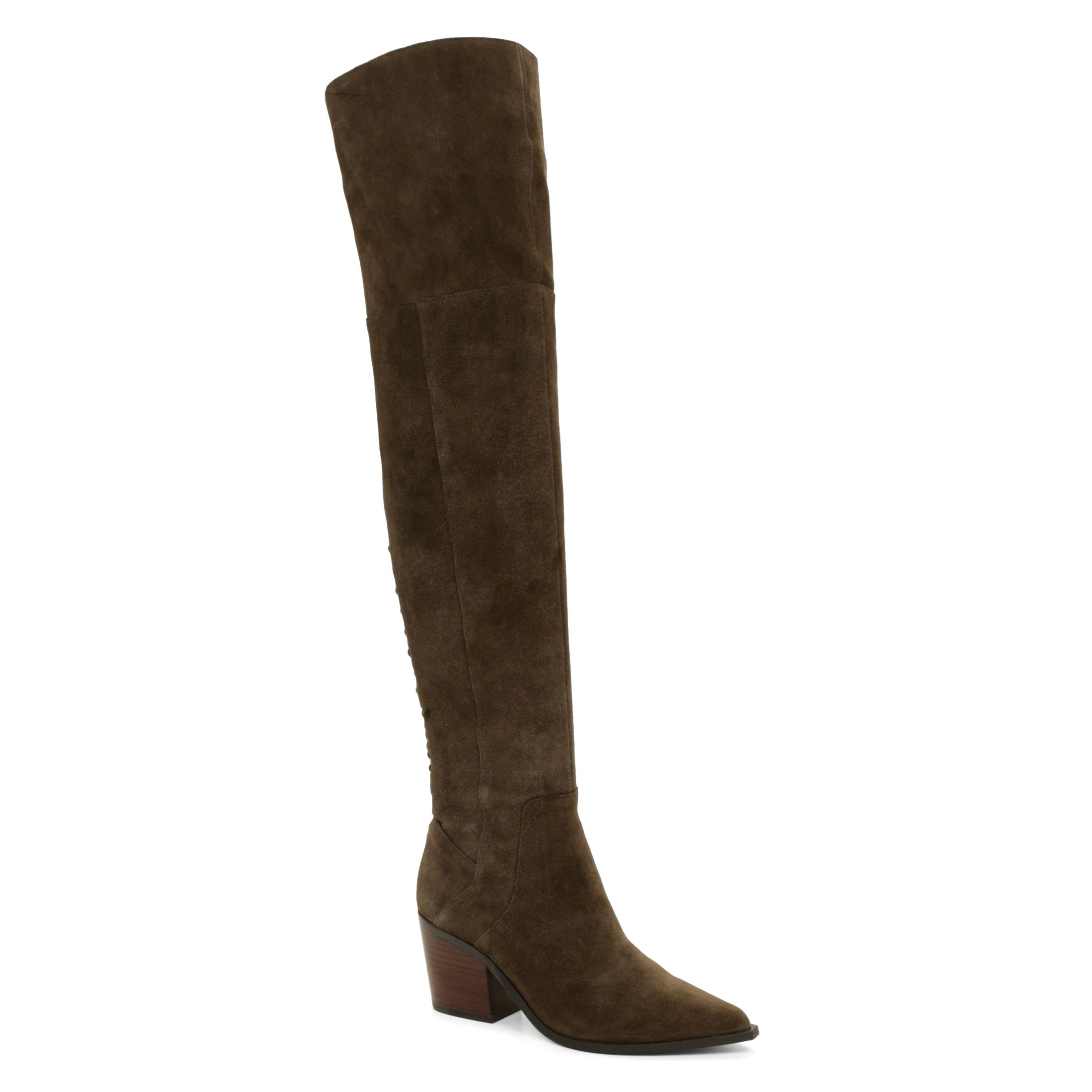 Aldo Haskova Pointed Toe Over The Knee Boot in Brown | Lyst