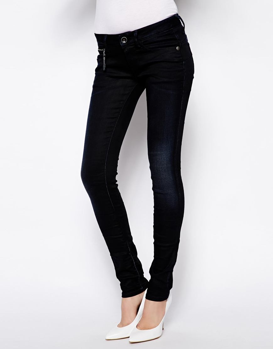 2e40b0f1e45 G-Star RAW Midge Sculpted Low Waist Skinny Jeans in Black - Lyst
