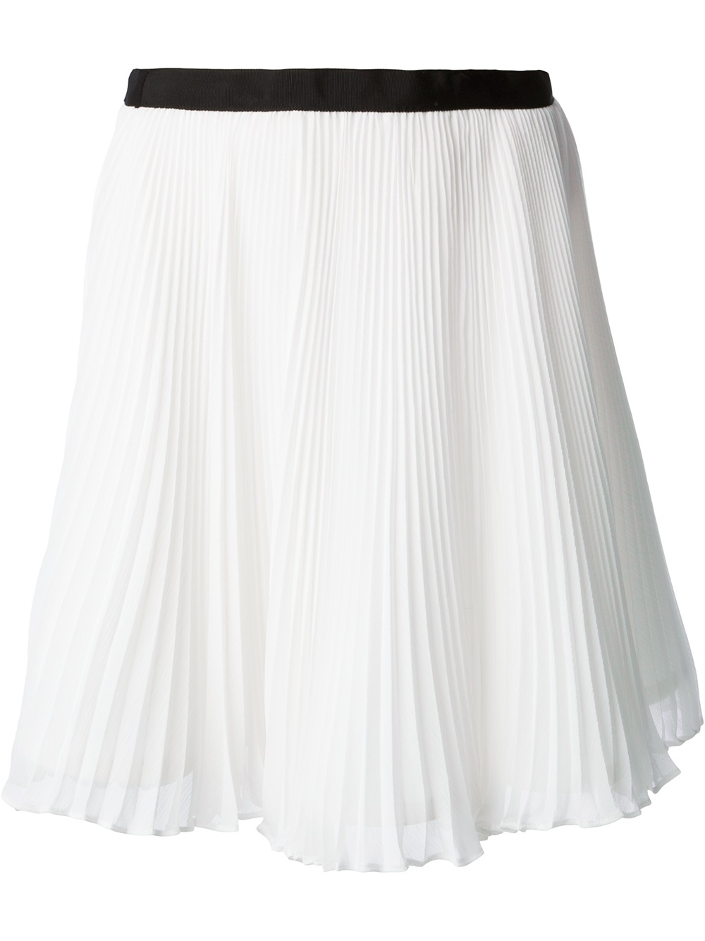 Alice Olivia Pleated Skirt In White Lyst