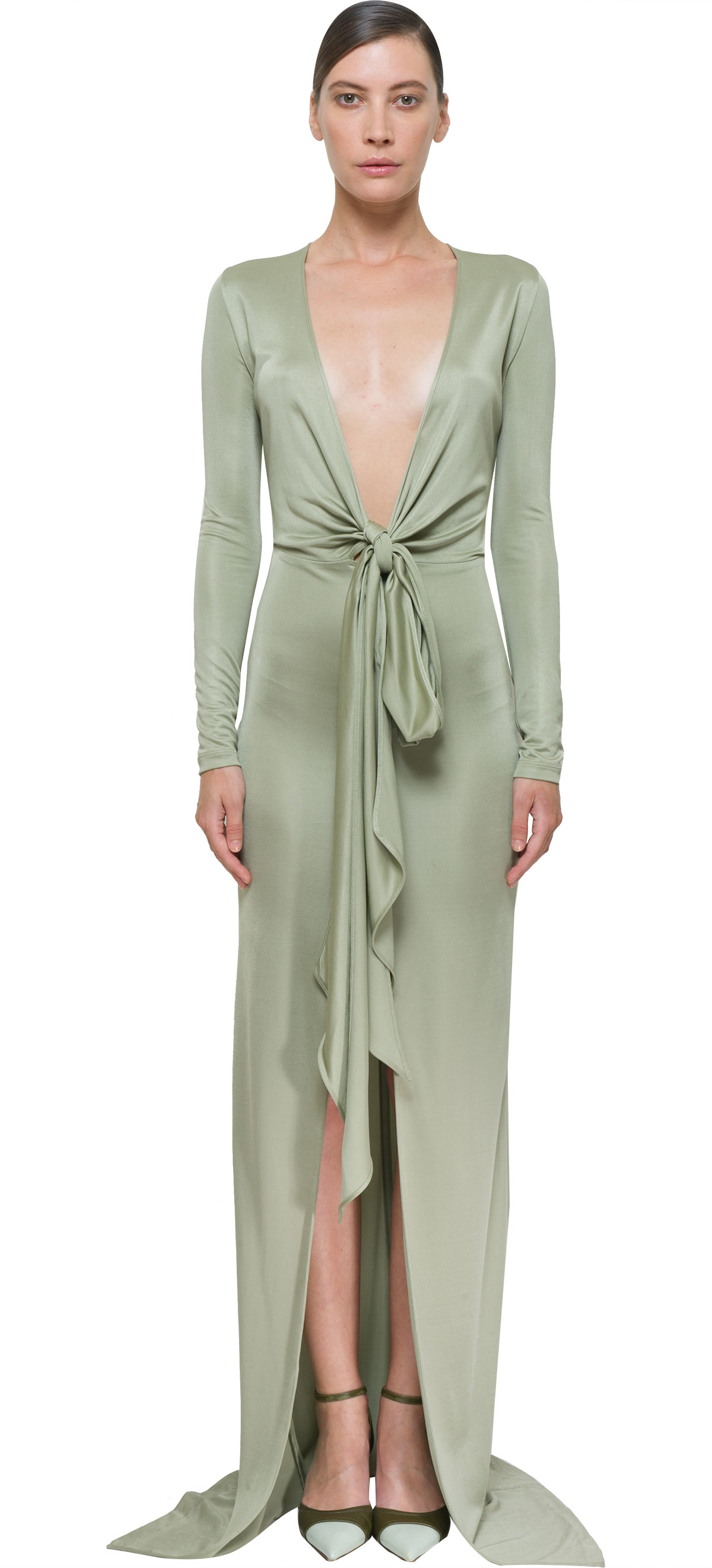 Lyst - Givenchy Pistachio Long Dress in Green