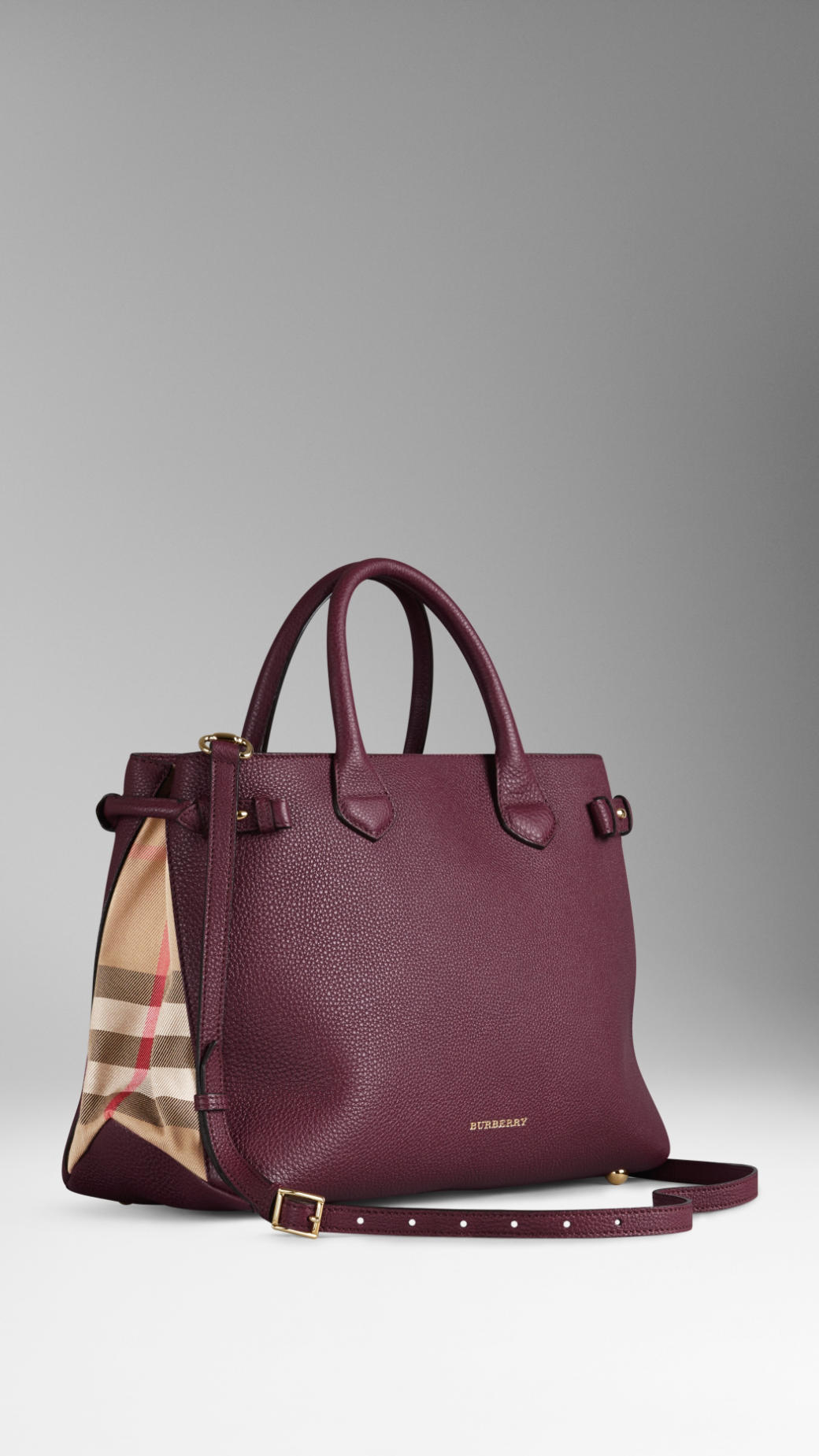 922e586755fc Burberry Banner Medium Leather Shoulder Bag   Burberry the medium banner in  leather and house check