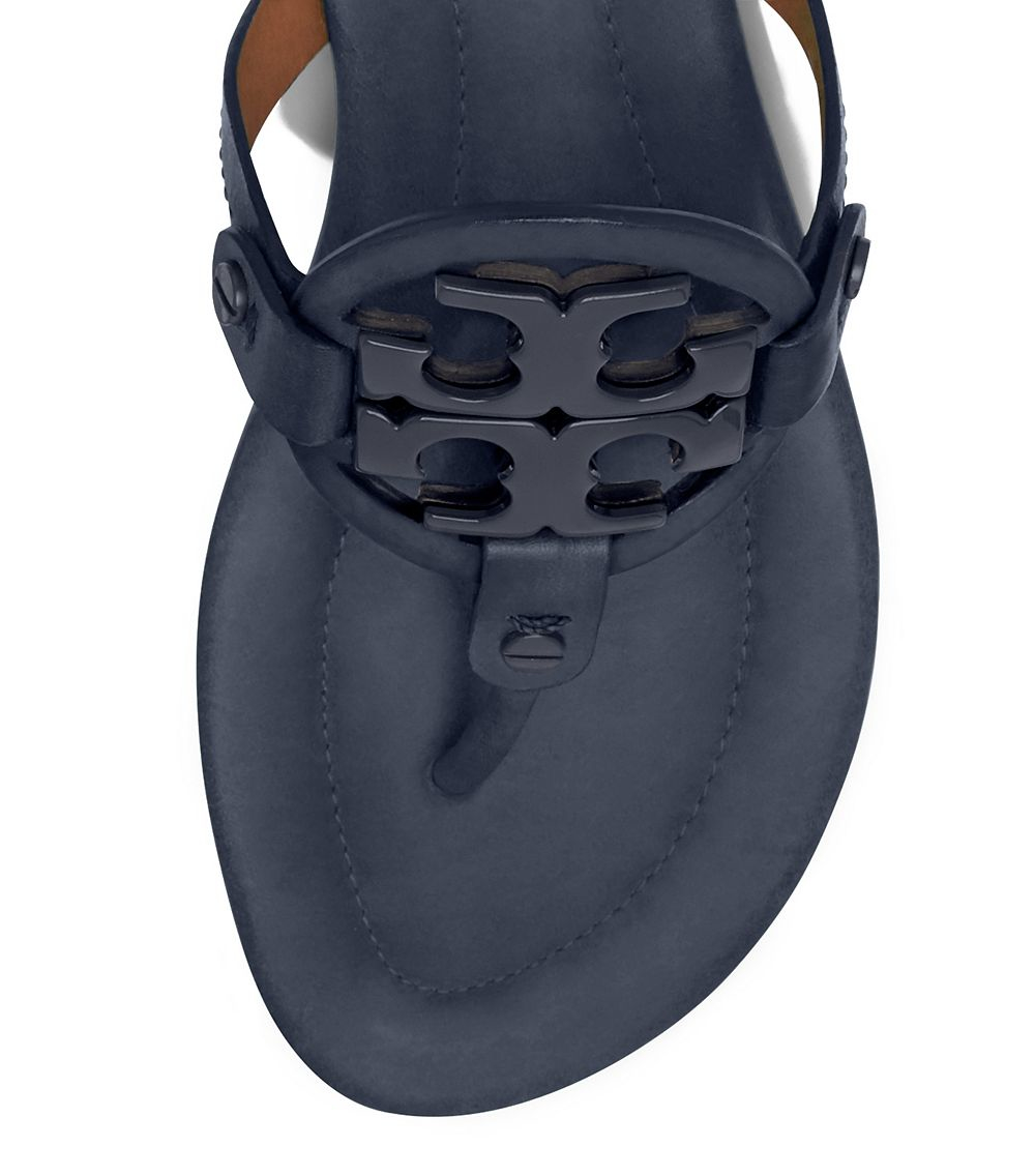 Tory Burch Miller Sandal Leather In Blue Lyst