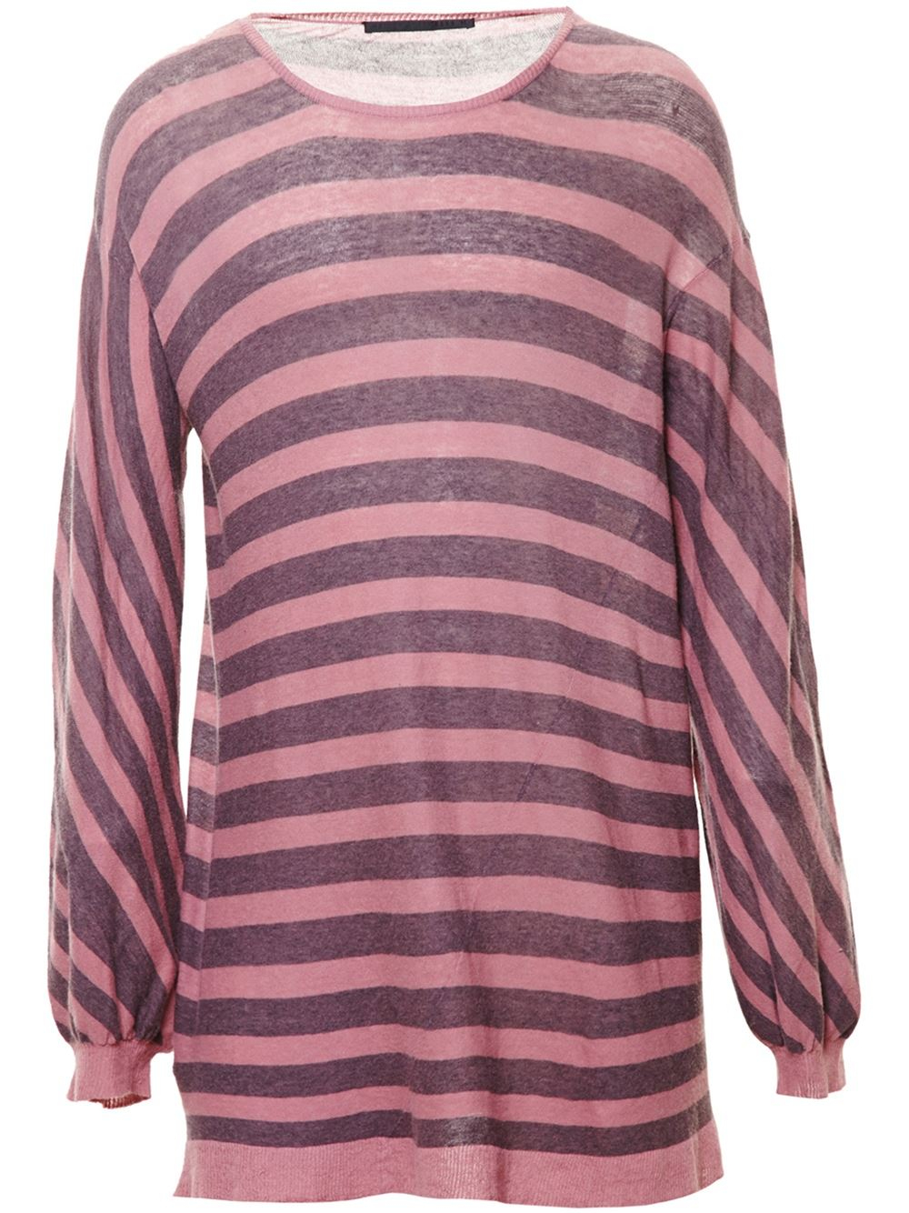 haider ackermann striped oversized jersey knit sweater in. Black Bedroom Furniture Sets. Home Design Ideas