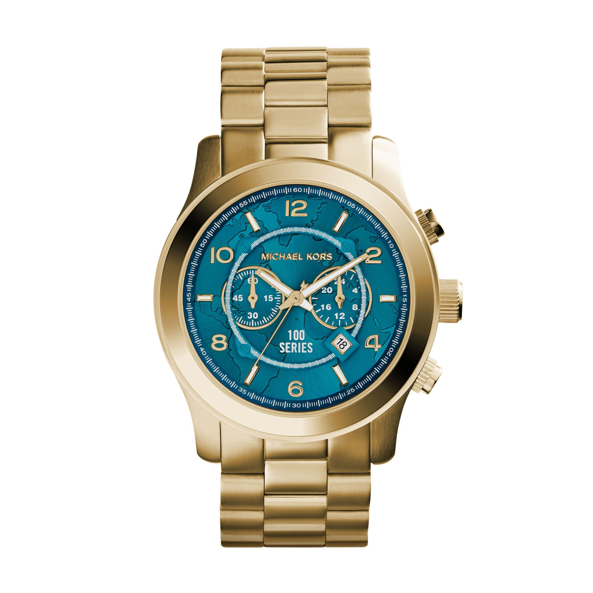 Michael kors Watch Hunger Stop Oversized Runway Gold-tone ...