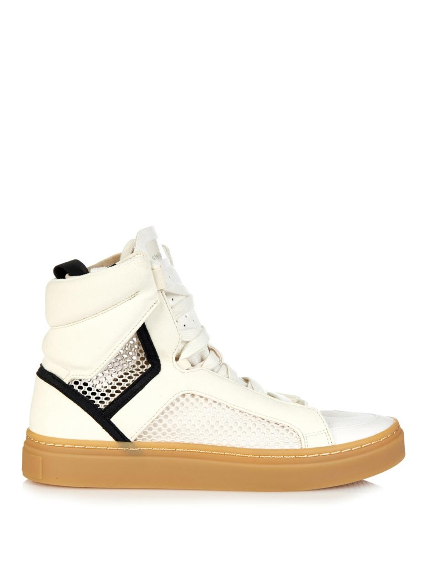 Adidas by Stella McCartney Lyst asamina High Top Trainers en blanco