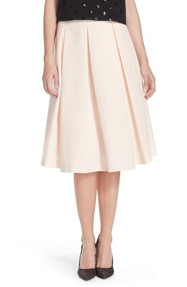 Lyst - Eliza J Faille Midi Skirt in Pink 5ee3cc291