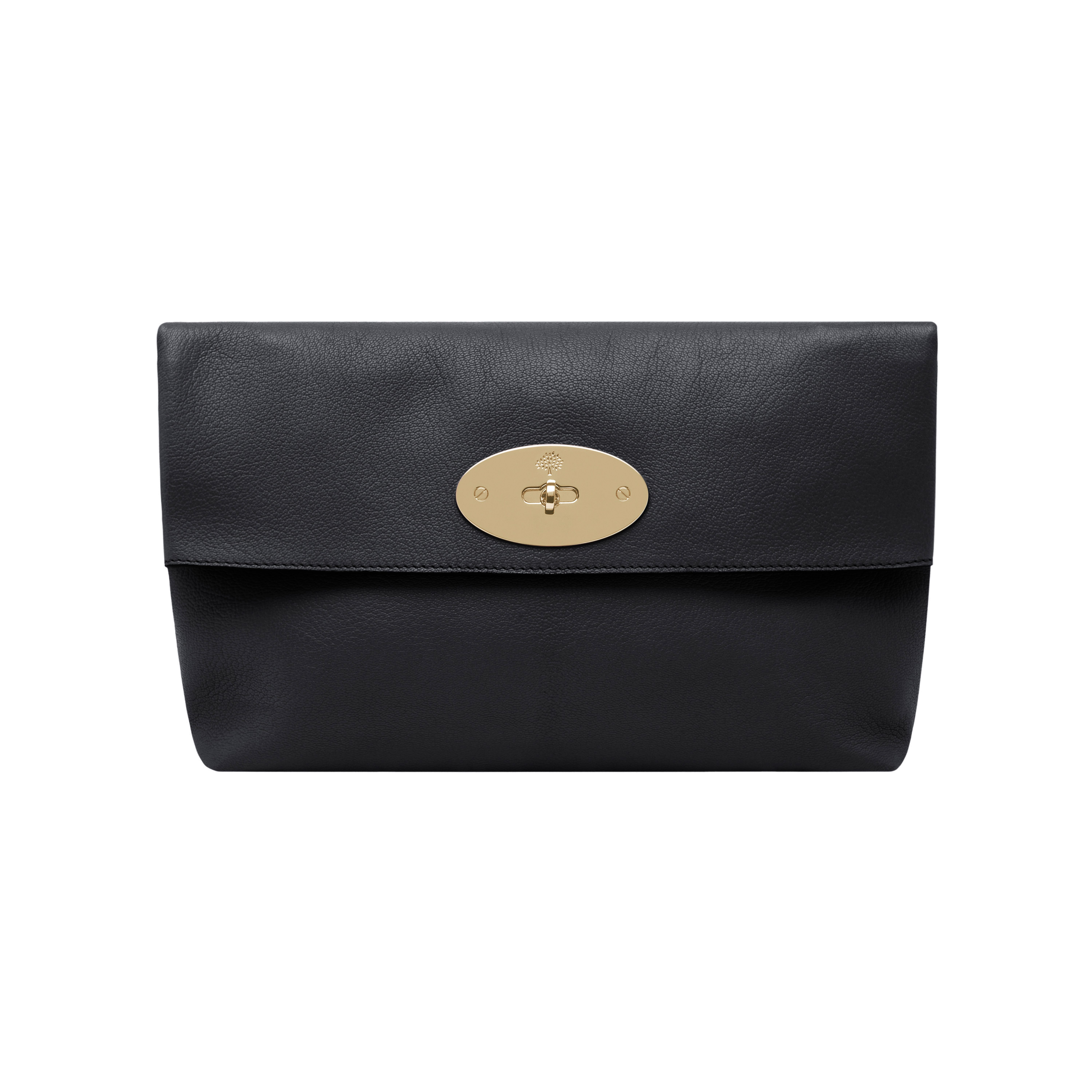6221a3ca02ce Mulberry Clemmie Clutch Glossy Goat in Black - Lyst