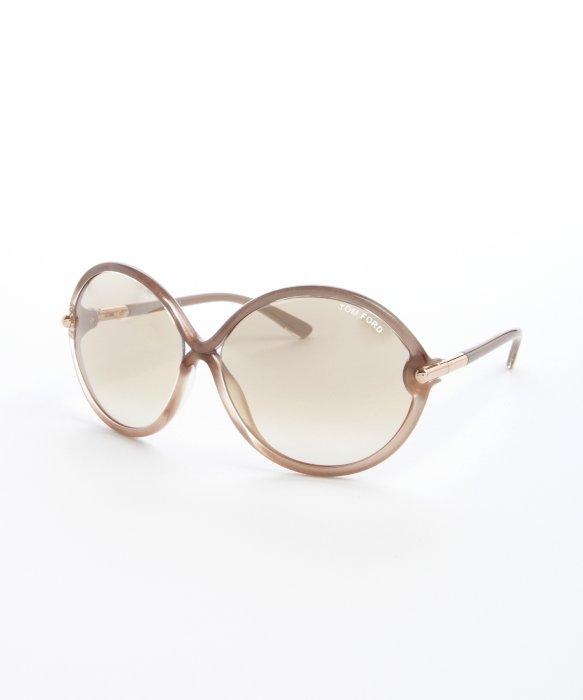 7de40b0233 Tom Ford Beige Horn Acrylic Rita Oversize Sunglasses in Natural - Lyst