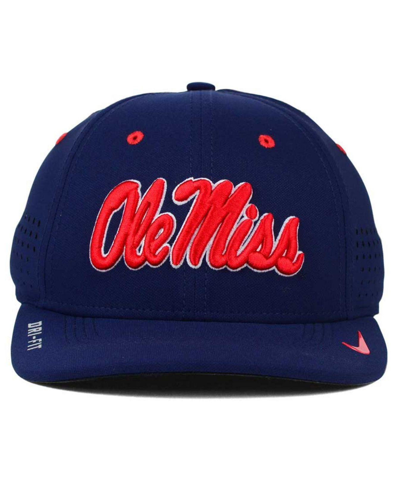 promo code 3b52b ac97e Lyst - Nike Mississippi Rebels Sideline Cap in Blue for Men