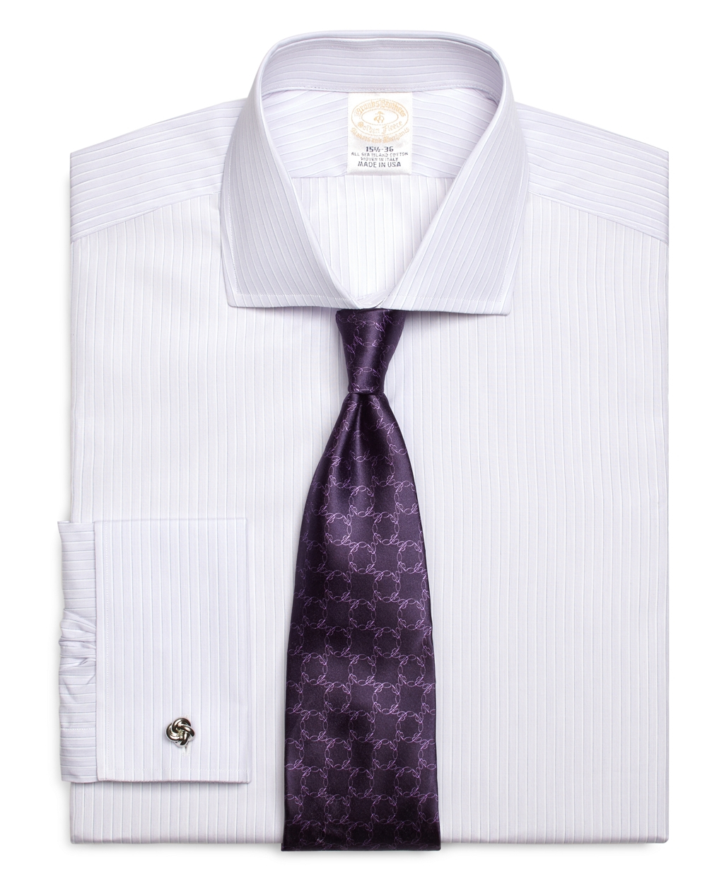 Brooks brothers golden fleece regent fit french cuff for Purple french cuff dress shirt