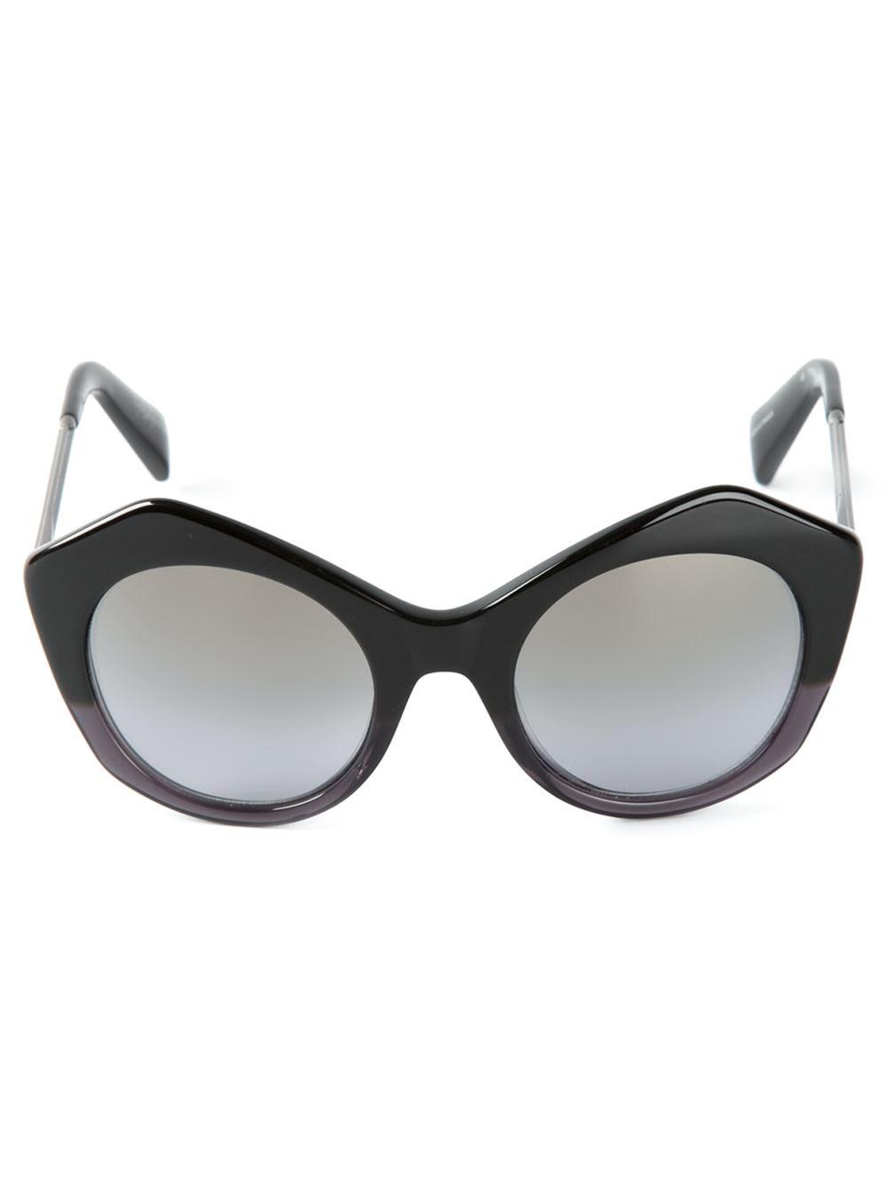 182fa59027 Lyst - Yohji Yamamoto Geometric Frames Sunglasses in Black