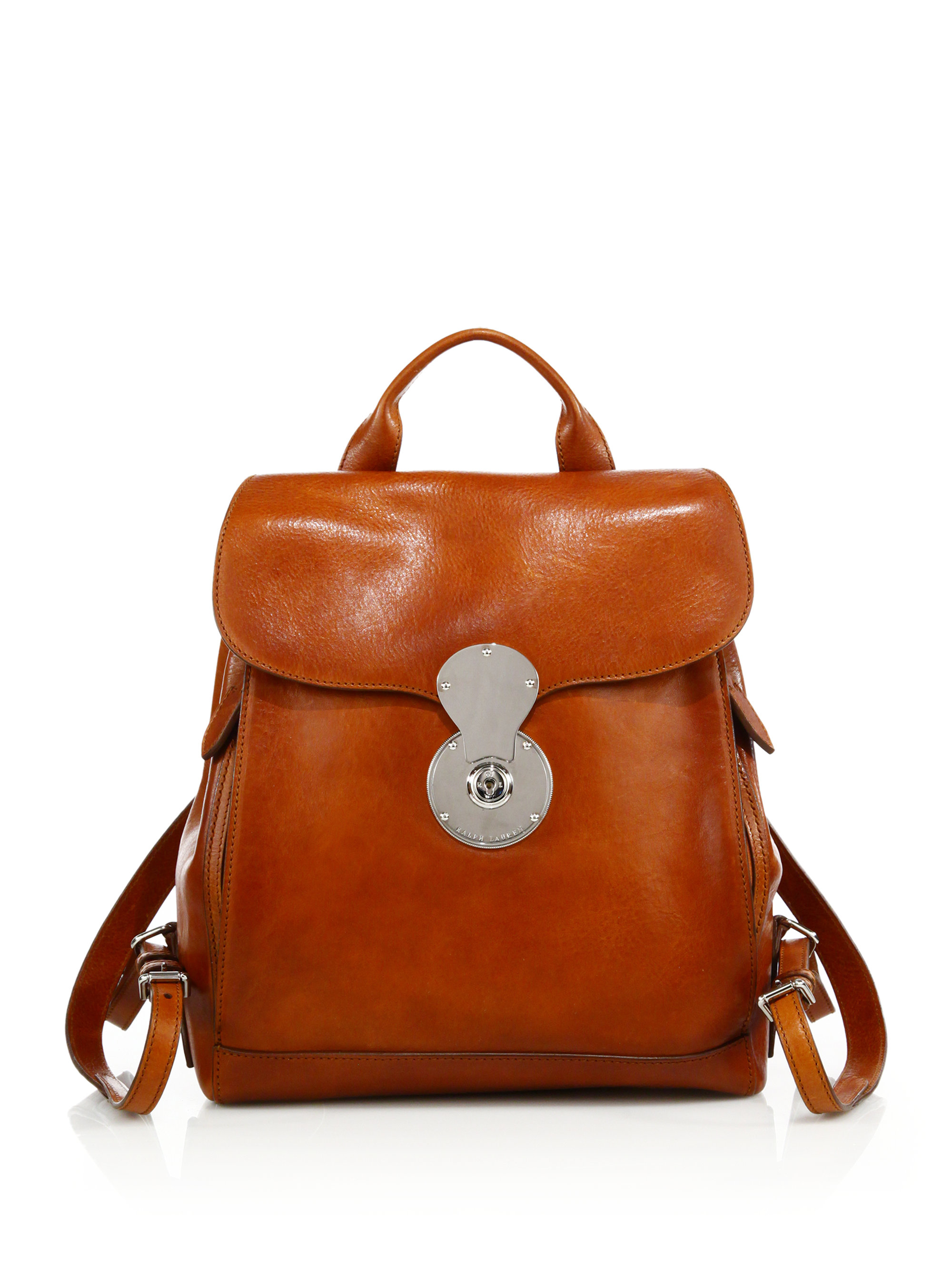 Pink pony Ricky Leather Backpack in Brown | Lyst