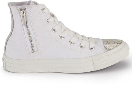 Converse Without Toe Cap Zip Sparkle Toe Cap Hitops