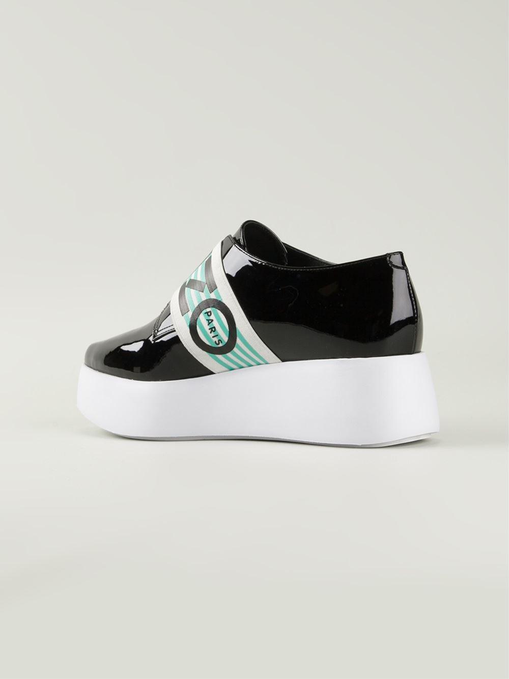 kenzo slip on platform shoes in black lyst