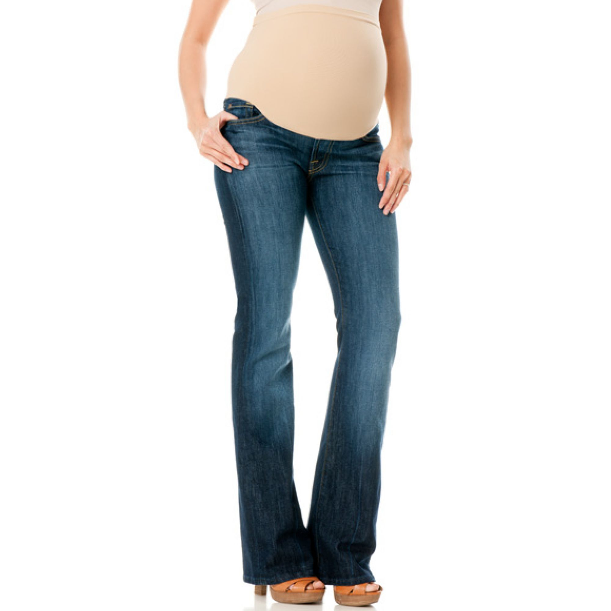 60a8832ac1b5d 7 For All Mankind A Petite Bootcut Maternity Jeans New York Dark ...