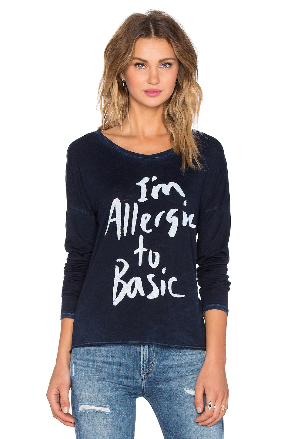 Lyst Tyler Jacobs Zora Quot I M Allergic Quot Tee In Blue