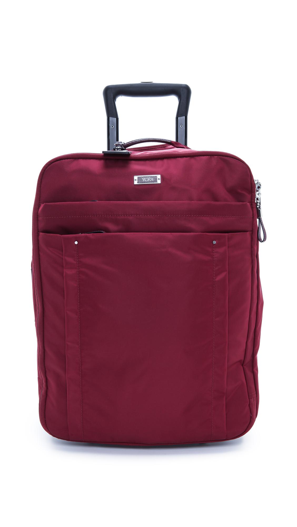 Tumi Super Leger International Carry On Luggage Garnet In